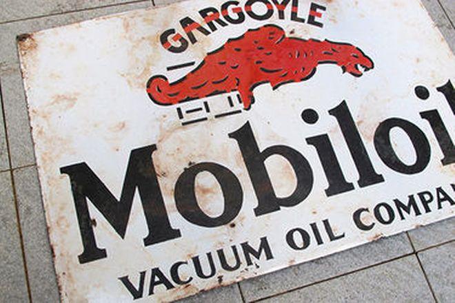 Enamel Sign - Mobiloil Gargoyle (55 x 36cm)
