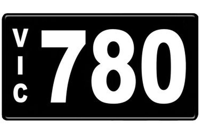 Number Plates - Victorian Numerical Number Plates '780'
