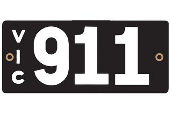 Victorian Heritage Plate '911'