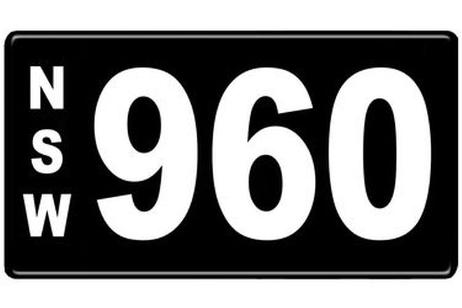 Number Plates - NSW Numerical Number Plates '960'