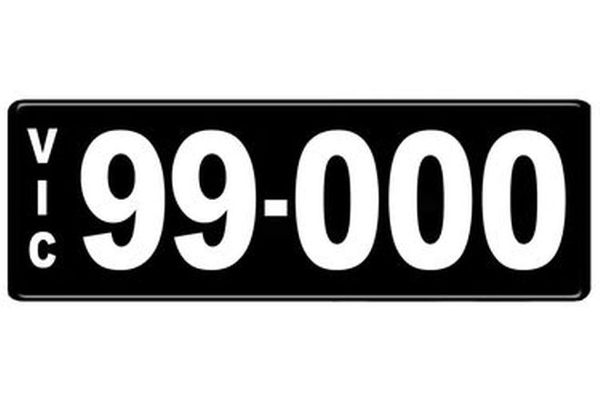 Number Plates - Victorian Numerical Number Plates '99.000'