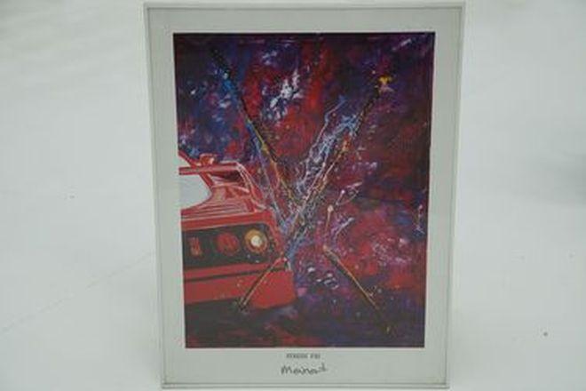 Framed Print - Ferrari F40 by Meinert (61 x 81cm)