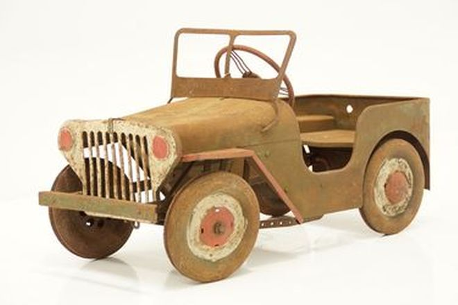 c1950's Jeep Pedal Car (Unrestored)
