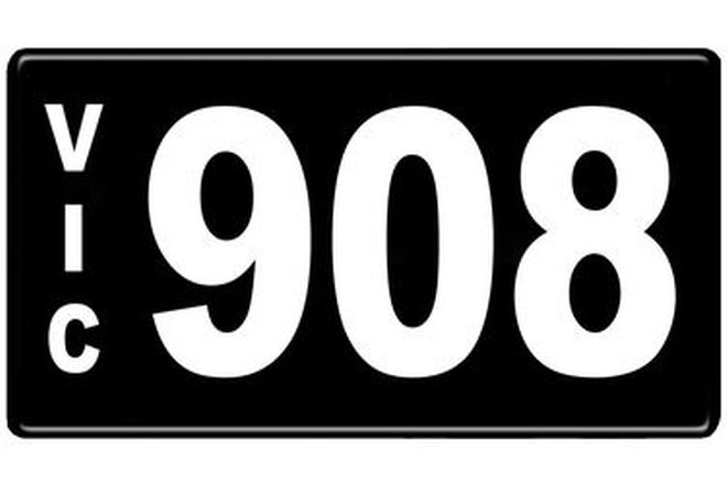 Number Plates - Victorian Numerical Number Plates - 908