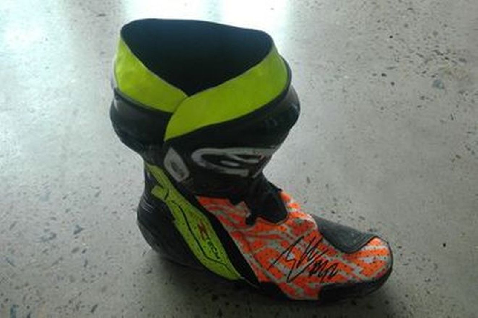 Alex Rins #42 Signed Boot RF