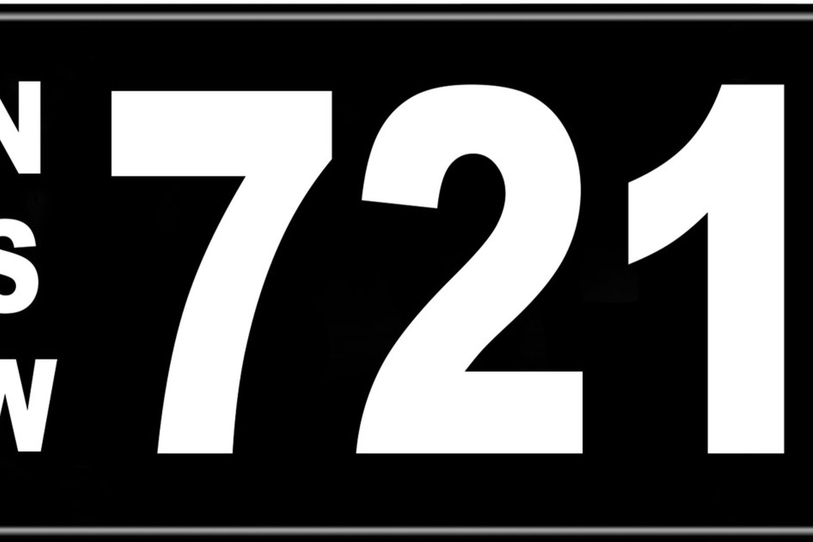 Number Plates - NSW Numerical Number Plates '721'
