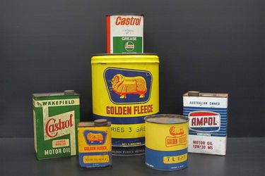 6 x Assorted Oil & Petrol Related Cans