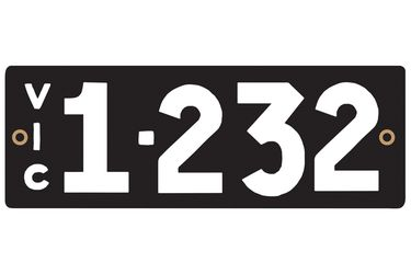 Victorian Heritage Numerical Number Plate - 1.232