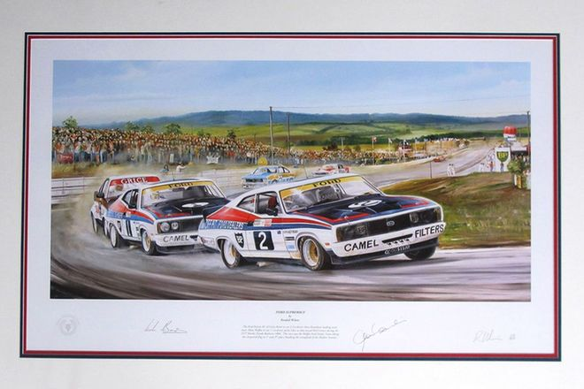 Framed Signed Print - Ford Supremacy by Randall Wilson 103/850 (100 x 70cm)