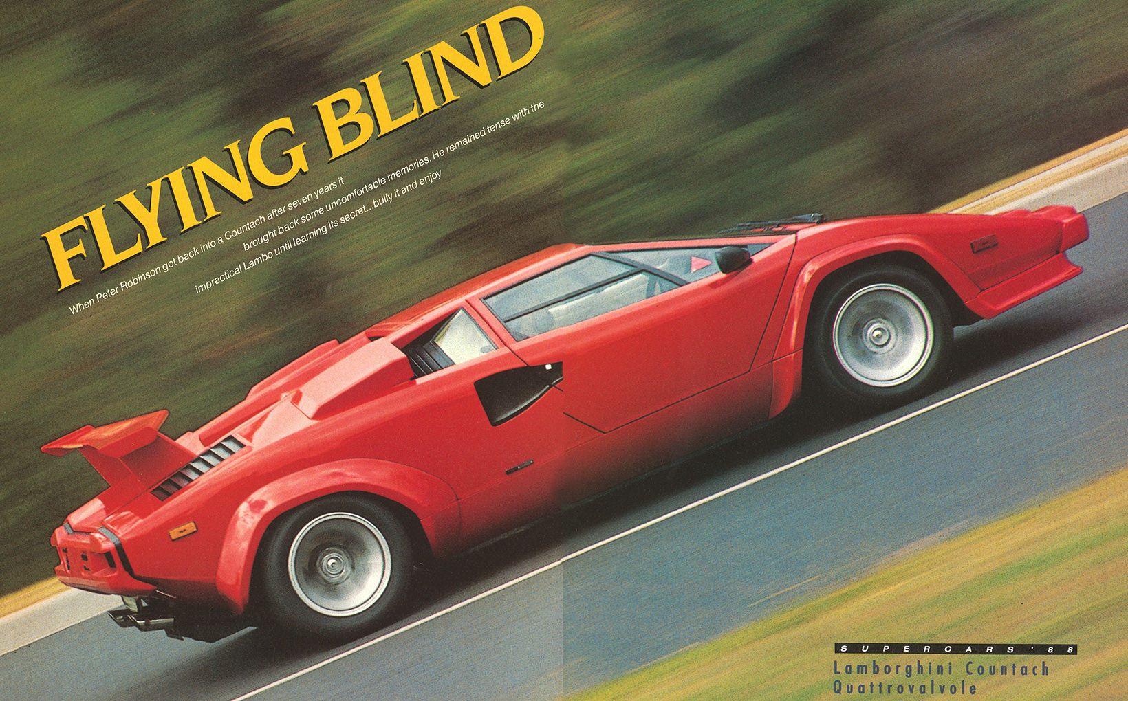 Lamborghini Countach Quattrovalvole Flying Blind Shannons Club