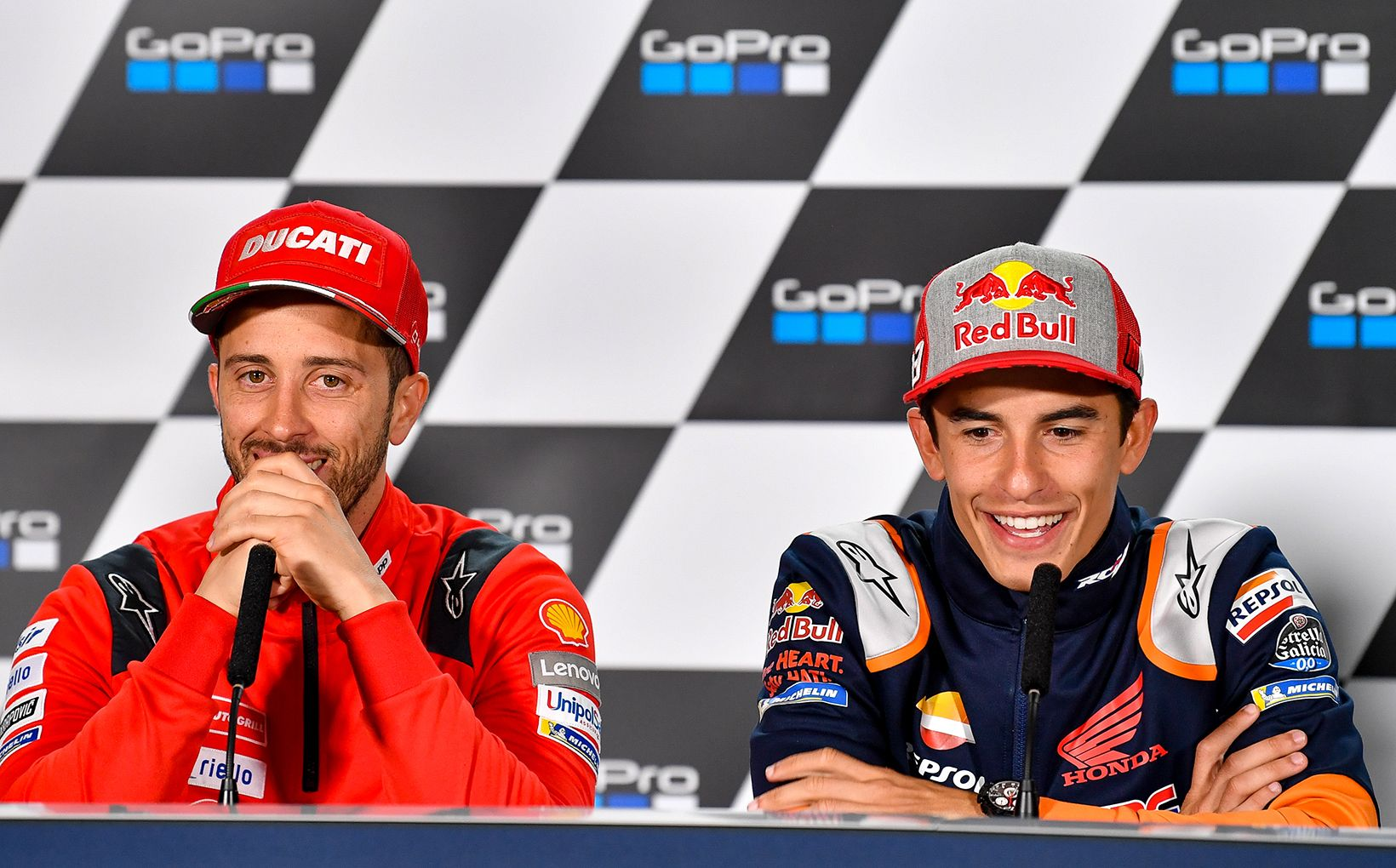 Andrea Dovizioso and Marc Marquez
