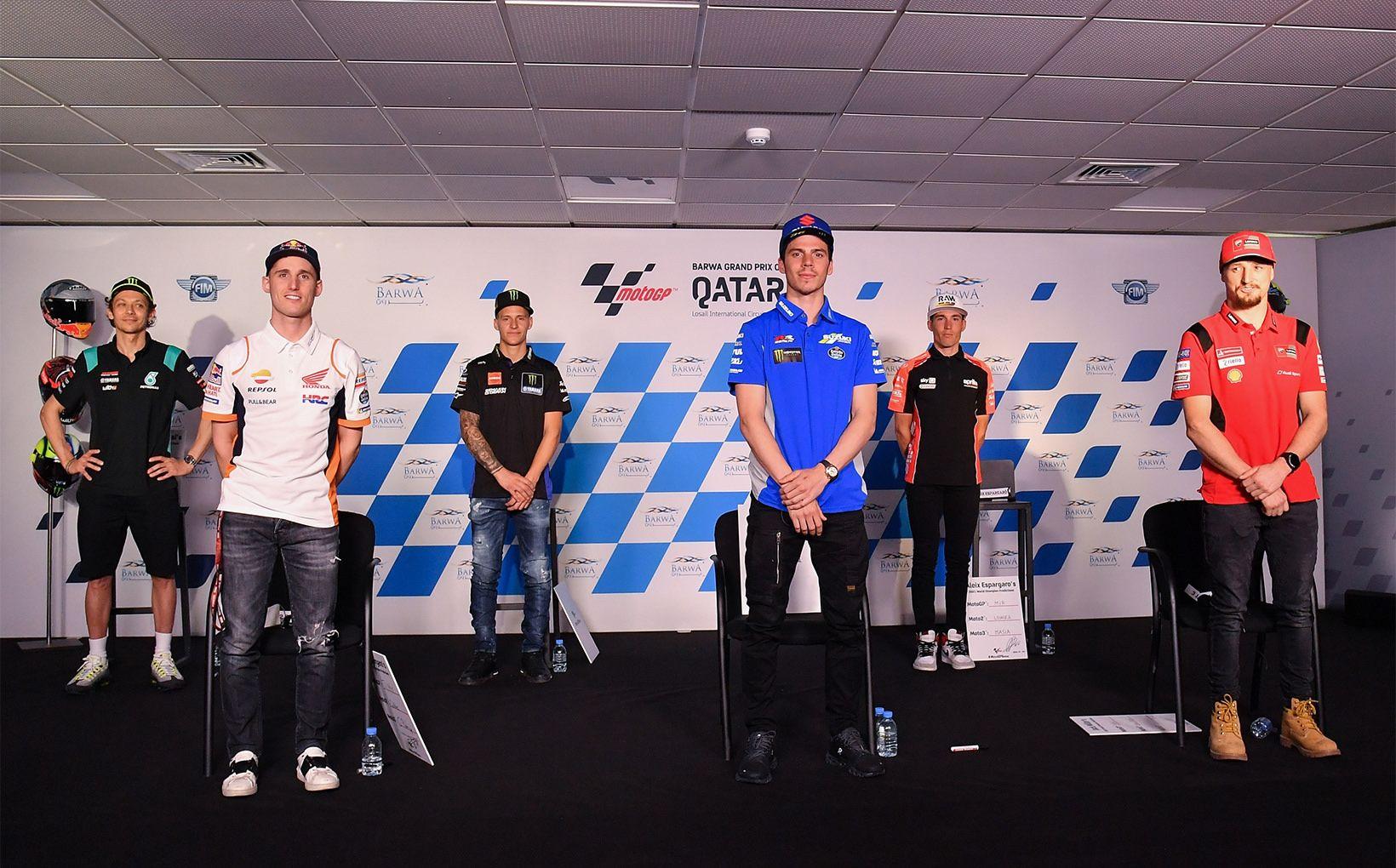 Credit - www.motogp.com (Rossi, Espargaro, Quartararo, Mir, Espargaro and Miller)