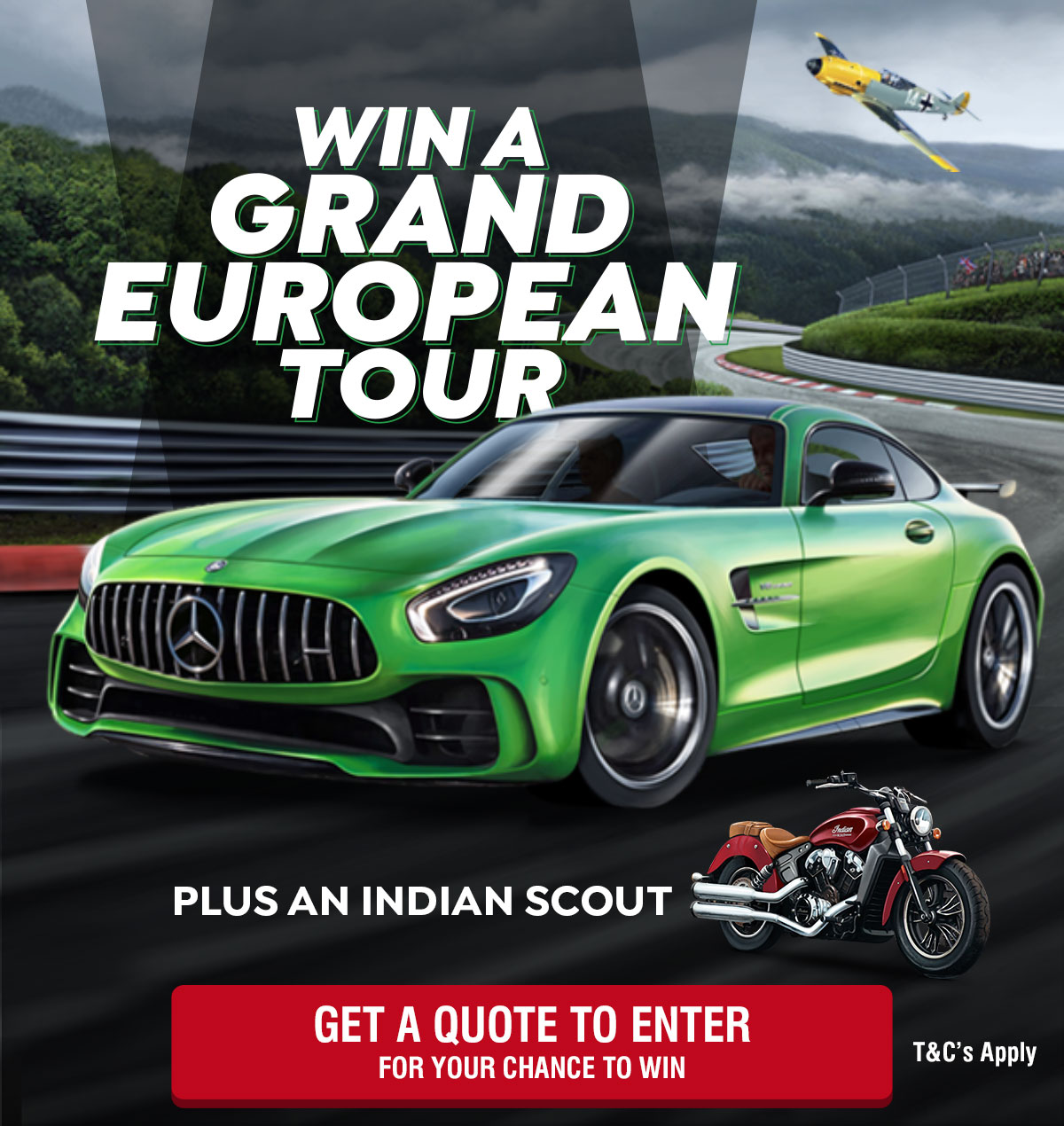 Win a Grand European Tour Plus an Indian Scout Motorcycle