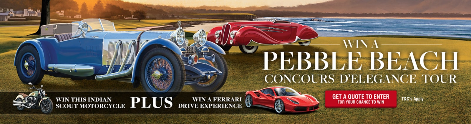 Win a Goodwood Revival UK Tour Plus a 2018 Indian Scout Bobber Motorcycle