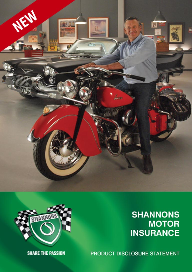 Shannons Motor Insurance Product Disclosure Statement (PDS) Cover
